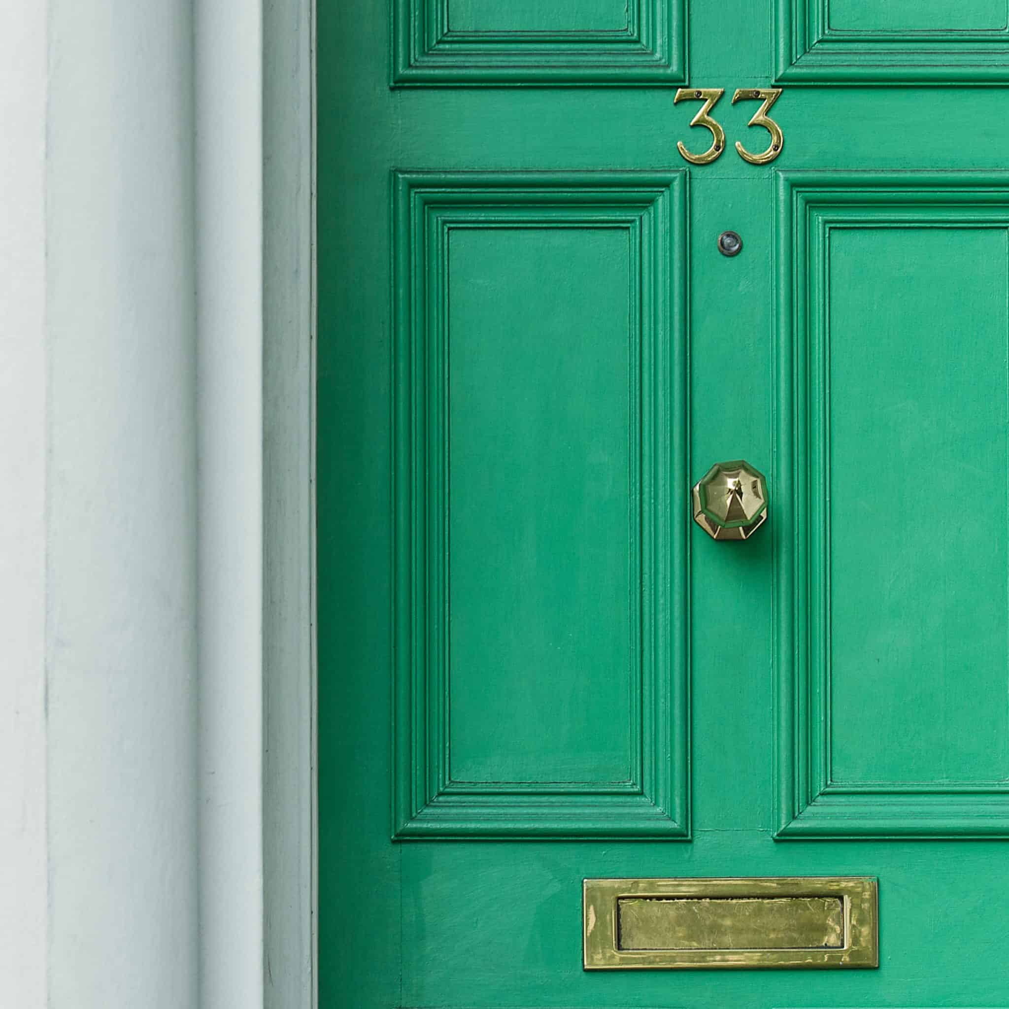 Painting interior and exterior doors and windows.